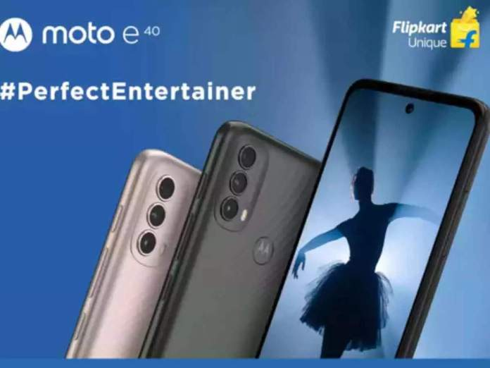 Flipkart Landing Page of the Moto E40 Smartphone Reveals Its Design and Specifications