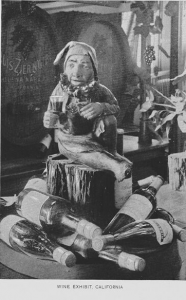 Sculpture display at the Exhibit of California Wines, 1893 World's Fair