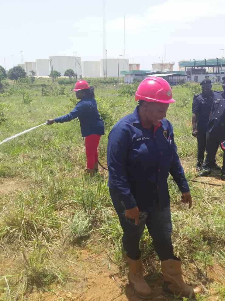 7 - Fire Fighter Staffs Catching Fun during Combating Fire