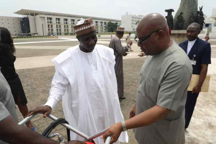 Engr Jerry of SkyTick Technology Inspects the AFT Equipments