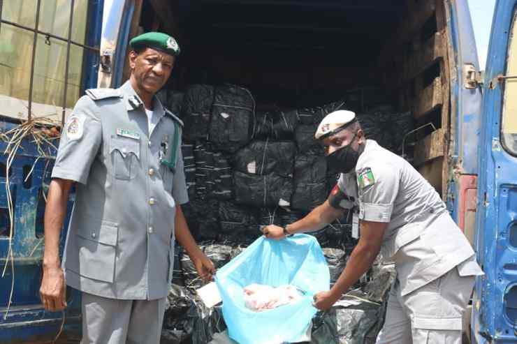 """Smuggling of Poultry Products by a Braded """"COVID-19 Vehicle"""""""