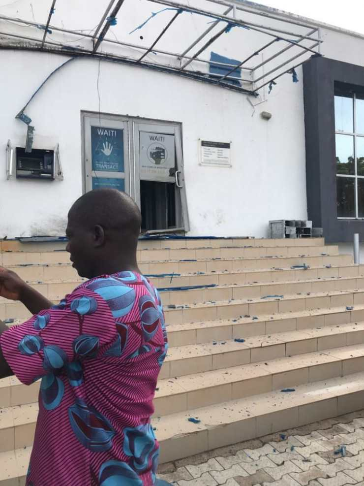 First Bank Frontage at the Scene of the Incident - Isanlu, Kogi State - Bank Robbery
