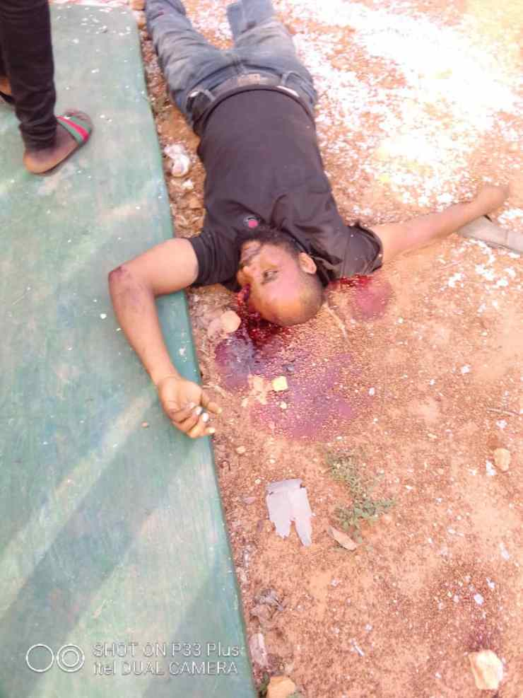 Unknown Dead Person at the Scene of Incident - Isanlu Kogi State Robbery - First Bank 2