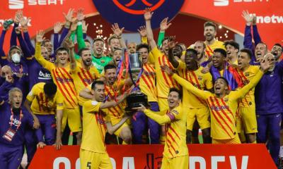 Messi Hits Brace as Barcelona Win First Trophy In Two Years