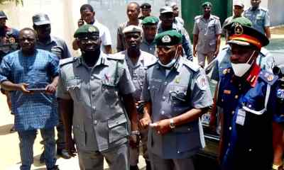 FOU Zone B Kaduna has handed over a Truck loaded with about 200 sacks containing products suspected to be Automative Gas Oil (AGO) to the Commandant NSCDC Katsina State Command.
