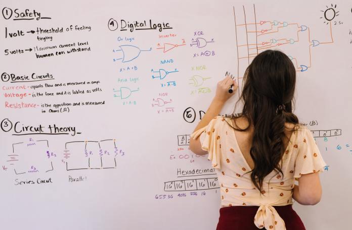 woman doing algorithms