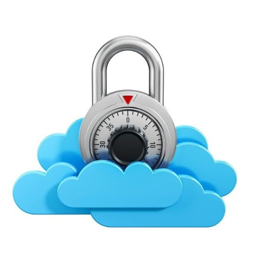 graphic image of a lock in a cloud demonstrating cloud security for Network Tigers News