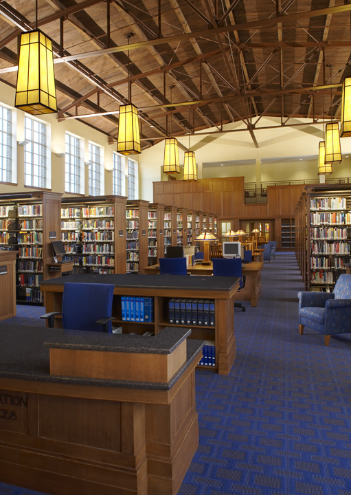 Interior of the Charlevoix Public Library