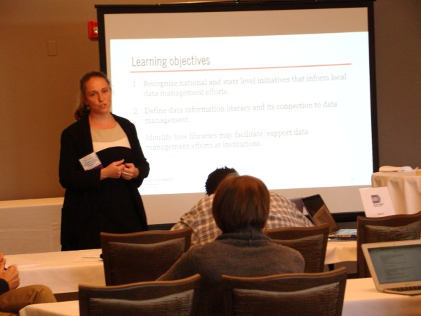 Erin Foster addresses Data Management learning objectives
