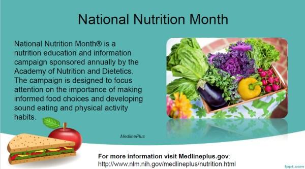 Health Observance slide example