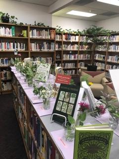 herbal and book displays