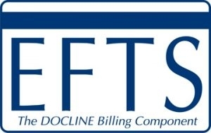 Electronic Fund Transfer System logo with the letters EFTS and the DOCLINE Billing Component underneath it