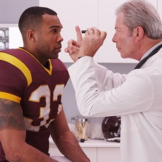 Football player and doctor
