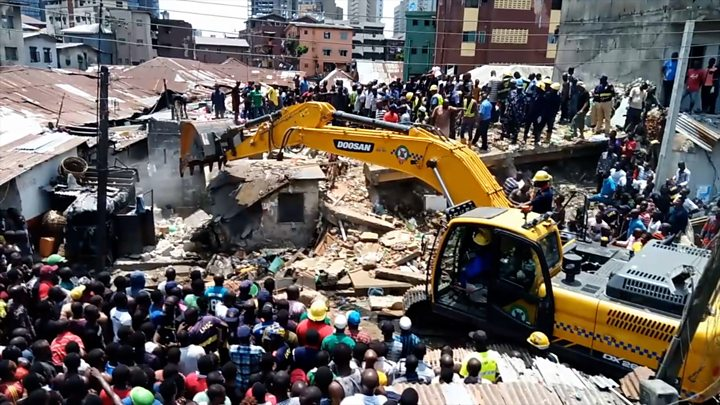 Image result for Woman Commits Suicide After Losing Two Children In Lagos Building Collapse
