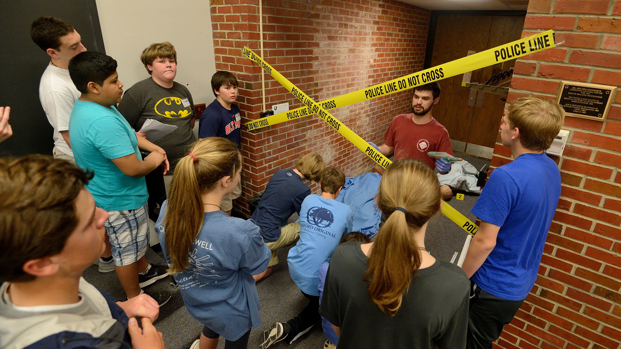 Ted Middle School Students Probe Faux Crime Scene On Um