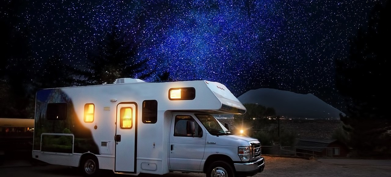 camper at night