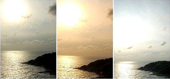 ท้องฟ้าไล่เฉดสีงดงาม ณ วินาทีที่อาทิตย์แตะผืนน้ำ