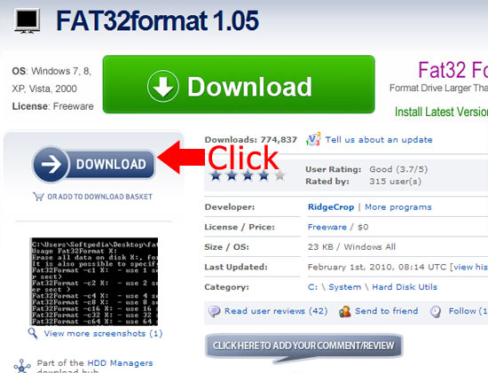 how to download fat32format