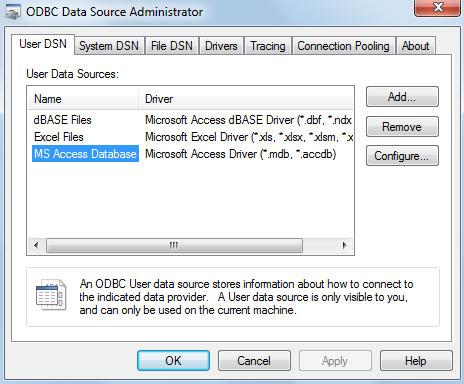 Windows 64 bit กับ ODBC Microsoft Access Driver