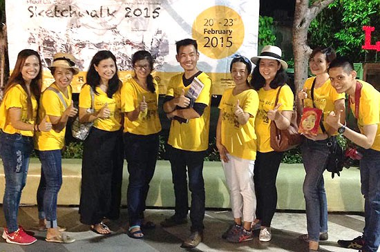 Phuket Sketchers นำทีมโดย  คุณวีระชัย ปรานวีระไพบูลย์ ประธานชมรม และ CEO The   Attitude Club
