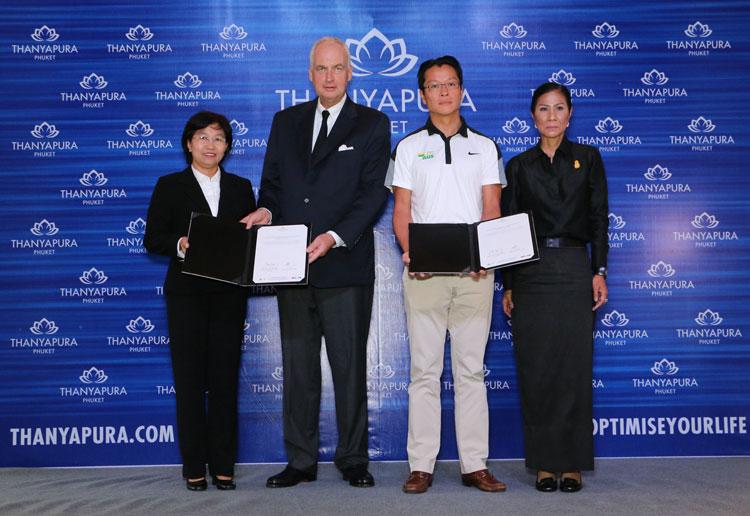 ธัญญปุระ รีสอร์ทเพื่อสุขภาพ และการกีฬา ภูเก็ต ร่วมมือกับ สปอร์ต แคมป์ ประเทศออสเตรเลีย แถลงข่าวการเป็นเจ้าภาพจัด Thailand Sporting Programs ที่ห้องประชุม เดอะวิว ธัญญปุระ