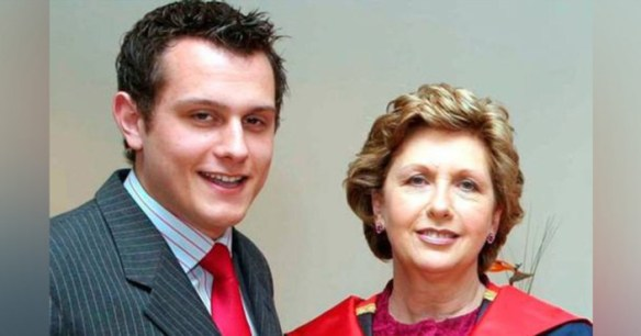 Mary McAleese and her son Justin