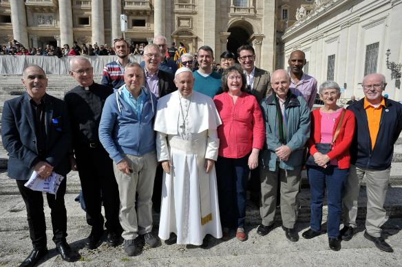 LGBT Catholics Westminster meet Pope Francis