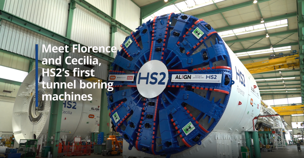 HS2 tunnelling machines set to leave factory with the names Florence and Cecilia topping public vote