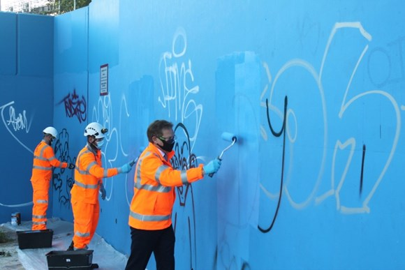 Calls to end 'blight of graffiti' on roads and railways as part of Great British September Clean
