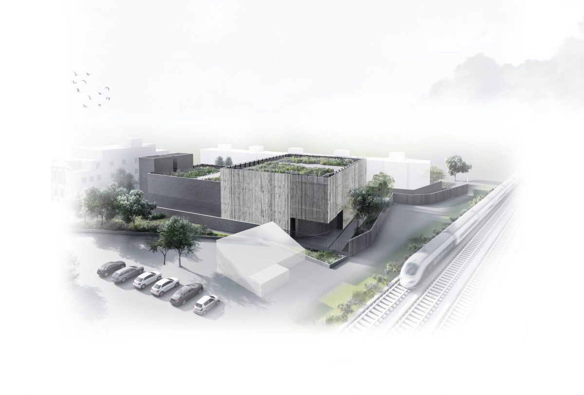 Designs for HS2 Canterbury Works vent shaft and headhouse revealed