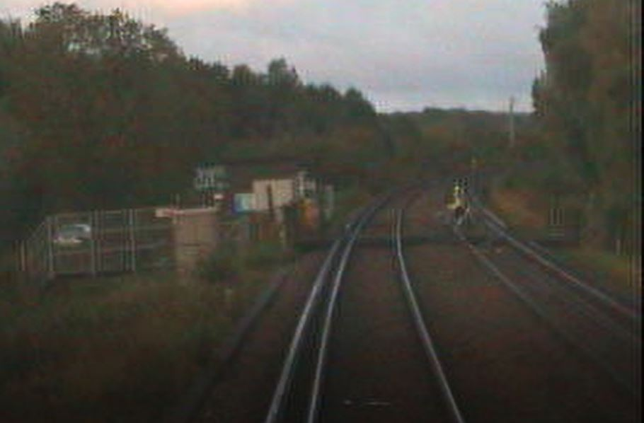 VIDEO: Network Rail warning after High Speed train almost hits cyclist near Canterbury