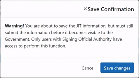 Figure 3: New save confirmation dialog window