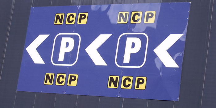 Birmingham New Street Station From Queens Drive   Ncp Car Parking Sign (4387800037)