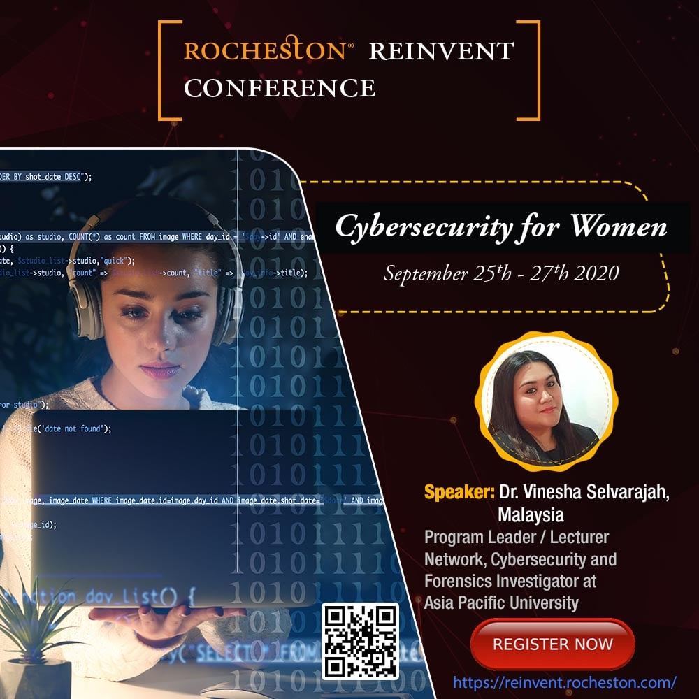 Dr. Vinesha Selvarajah Talks on Involvement of Women in Cybersecurity: A Dazzling Touch