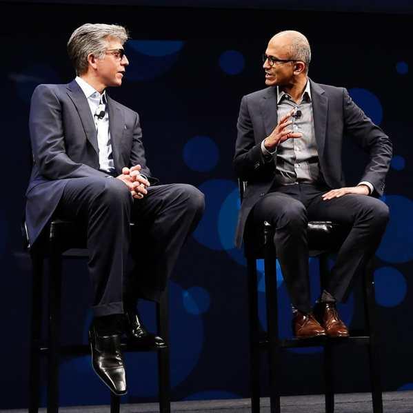 SAP CEO Bill McDermott; Microsoft CET Satya Nadella