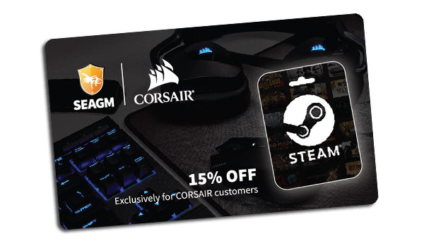 Steam Wallet Code Discount with Corsair and SEAGM