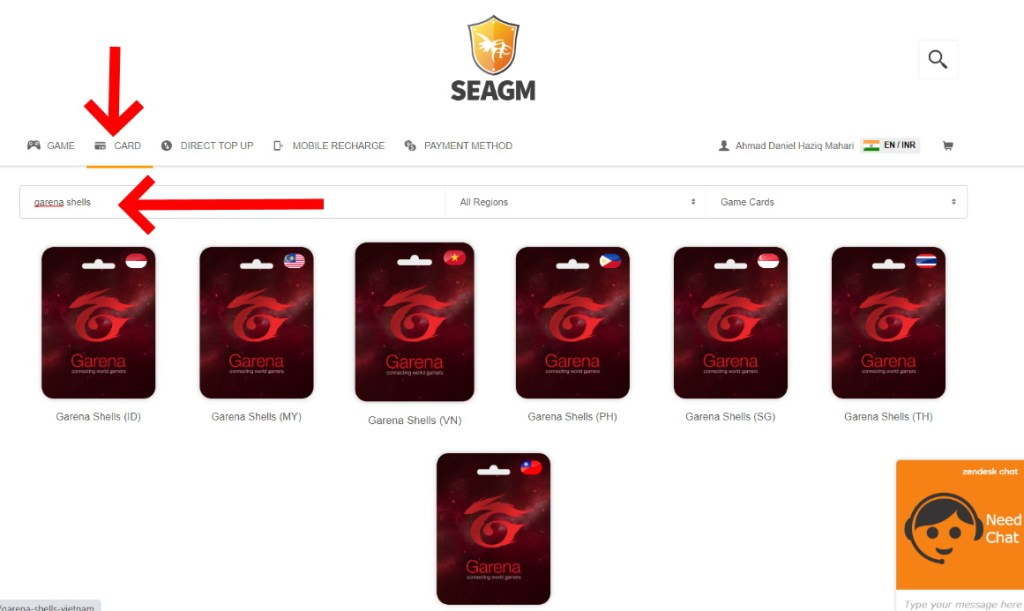 how to get garena shell