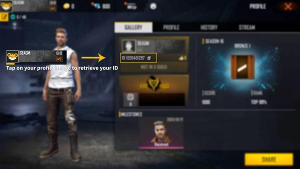 how to find your free fire id