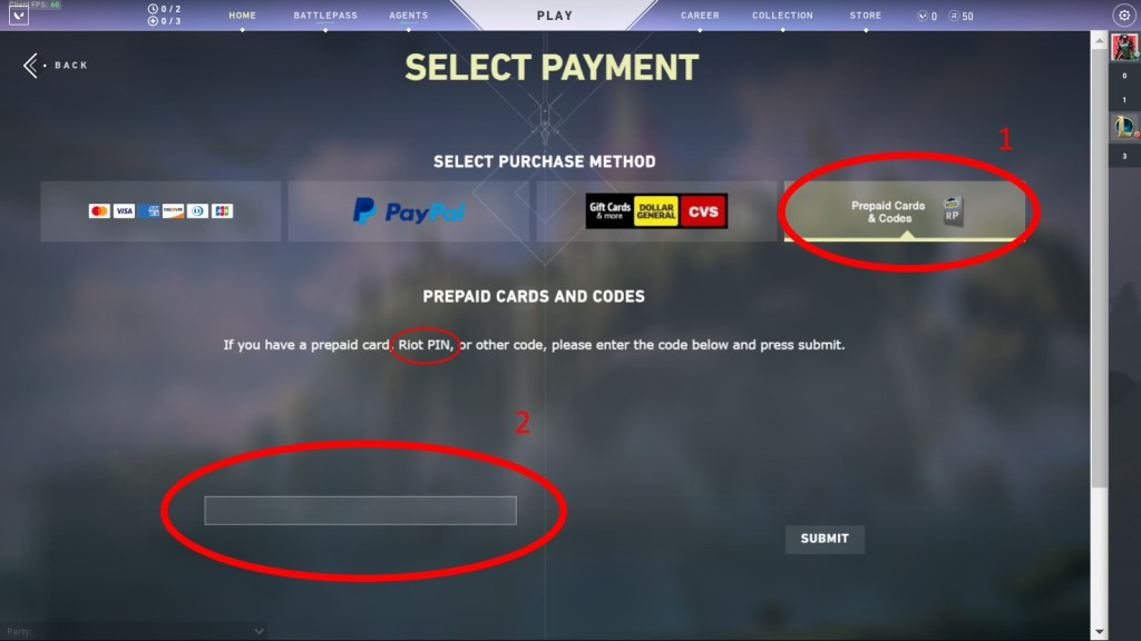 how to buy valorant points with riot pin