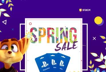 playstation spring sale card