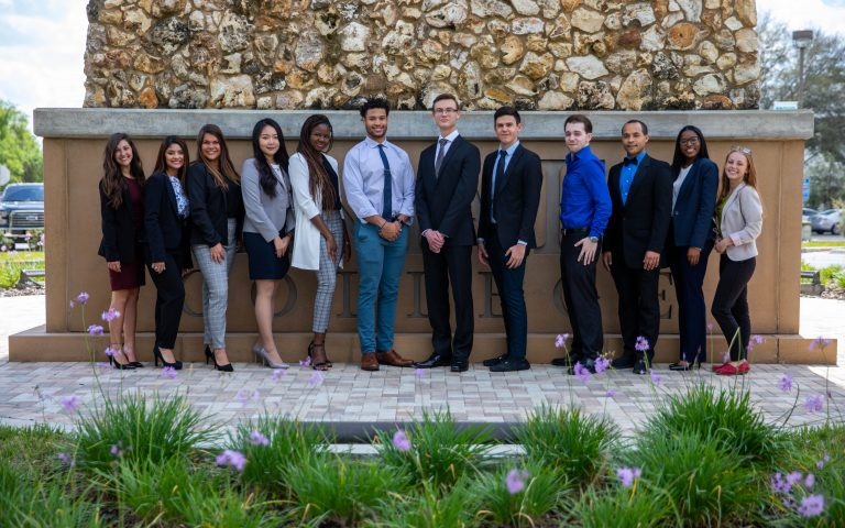 The 2019-2020 SF Student Ambassadors (from left) Madelyn Carroll, Kathleen Velez, Camila Salviano, Yoojin Jung, Zeinabou Diarra, Curby Bodden, Darrian Watson, Jaime Truzman, Daniel Hardin, Ian Arnold, Dajhia Preston, Abigail Dumonceau.