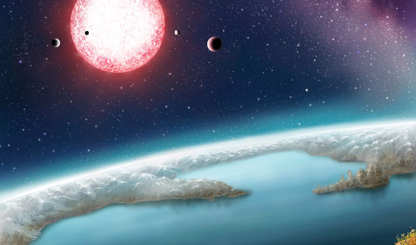 Kepler-186f, seen here in an artist's rendering and discovered in 2014 by a team of astronomers including SF State's Stephen Kane, is one of more than 200