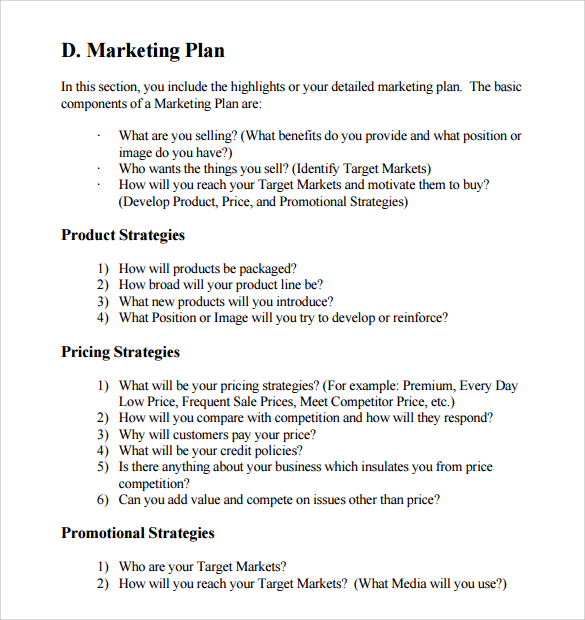 Business Marketing Plan Sample News