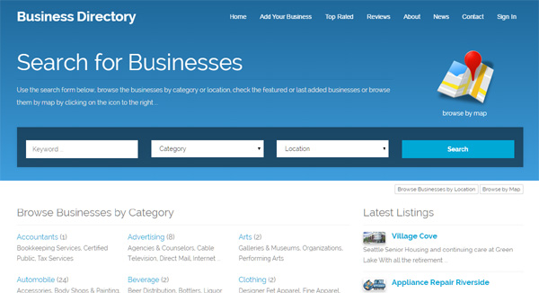 Business directory website template news business directory website template cheaphphosting Images