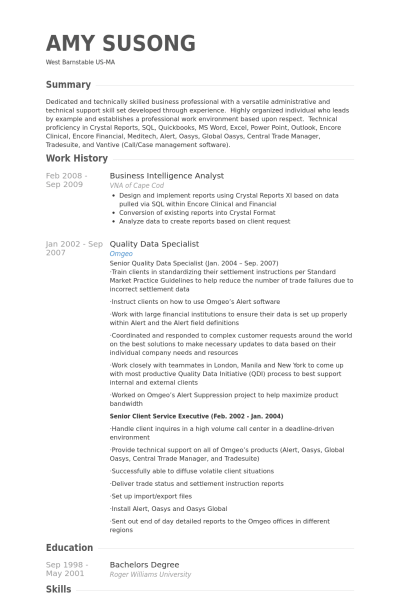 business intelligence analyst resume – News