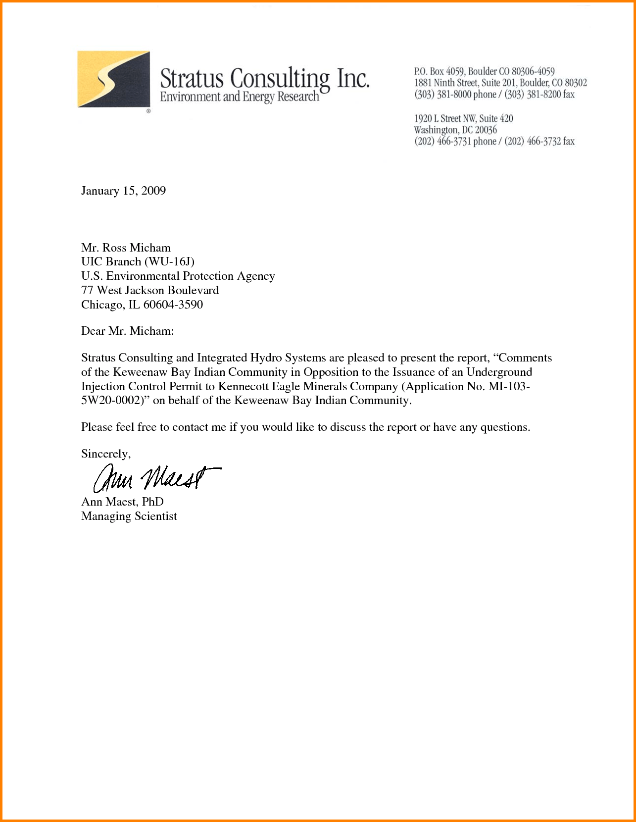 Business Headed Letter Template News