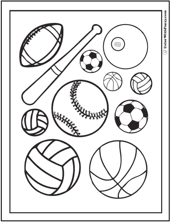 Printable Sports Coloring Pages 121 sports coloring sheets