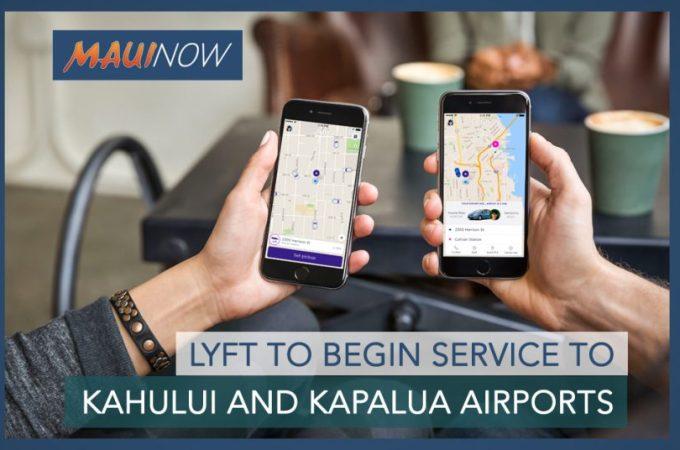 Maui Now : Lyft to Begin Service to Kahului and Kapalua Airports