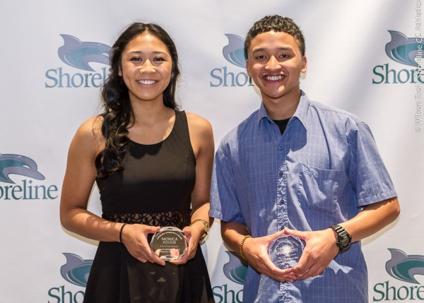 Monica Postor and Josh Wisnubroto were named Shoreline Community College Student-Athletes of the Year for their work accomplishments in the classroom as well as in Volleyball and Men's Basketball, respectively.