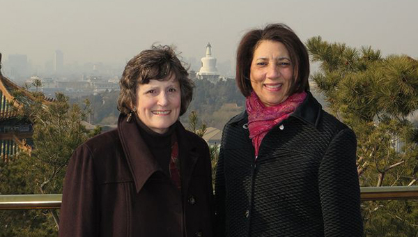 Diana Sampson (left) and Cheryl Roberts in Beijing in December, 2014